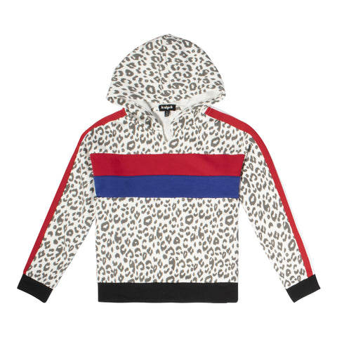 Leopard Hooded Sweatshirt - Multi