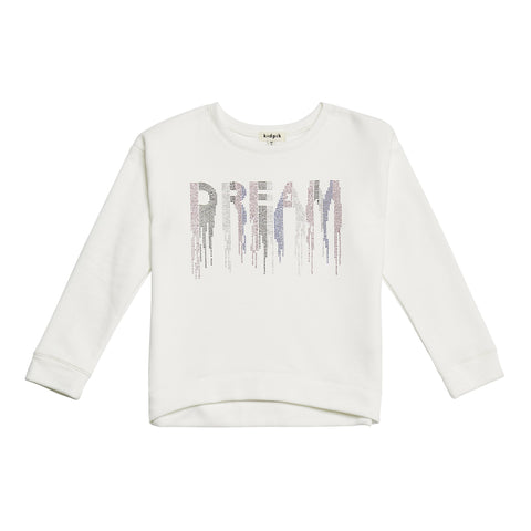 Studded Dream Sweatshirt - Kidpik Cream