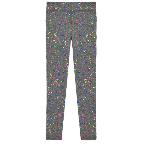 Splatter Legging - Medium Heather Grey