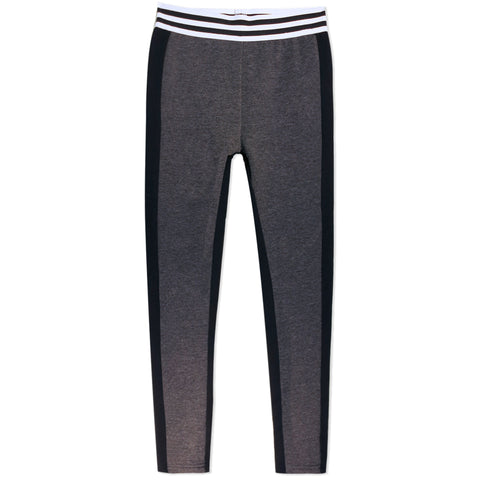 Color Block Legging - Medium Heather Grey
