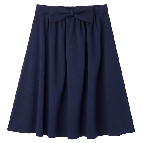 Bow Knit Skirt - Kidpik Navy