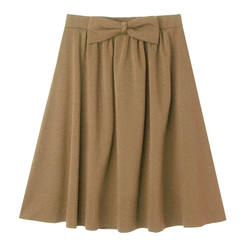 Bow Knit Skirt - Nomad