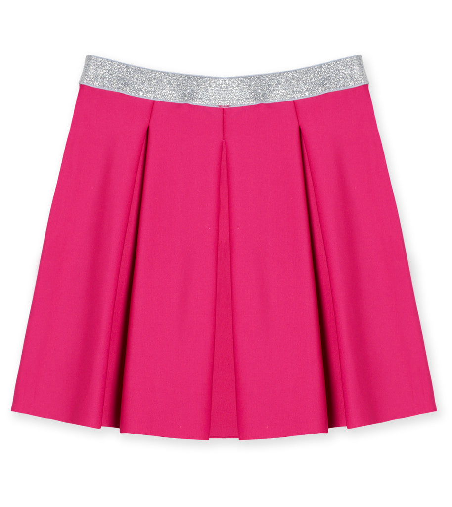 Pleated Scuba Skirt