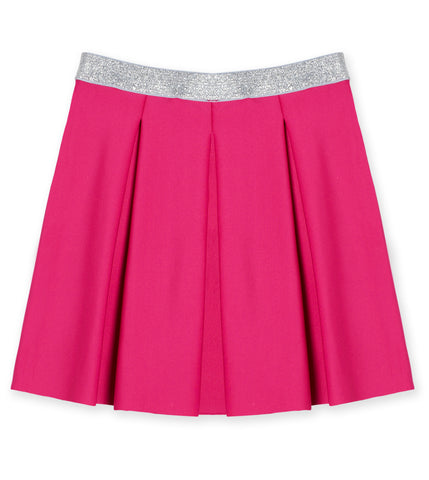 Pleated Scuba Skirt - Beetroot Purple