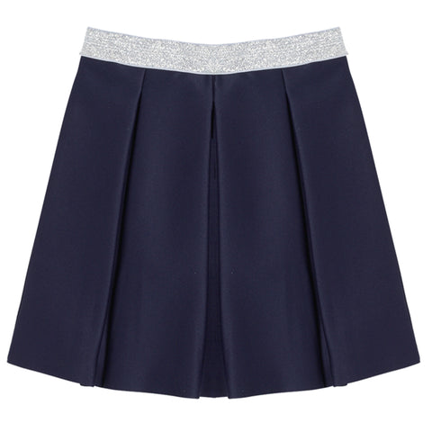 Pleated Party Skirt - Kidpik Navy