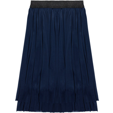 Layered Mesh Skirt - Navy