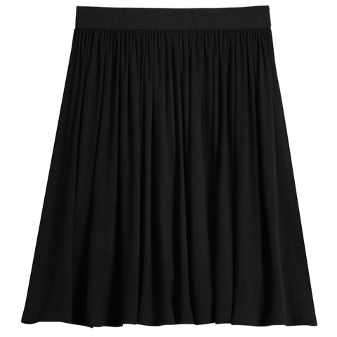 Pull On Knit Skirt - Black