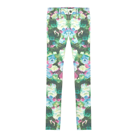 Brushed Floral Super Soft Skinny - Aquarelle