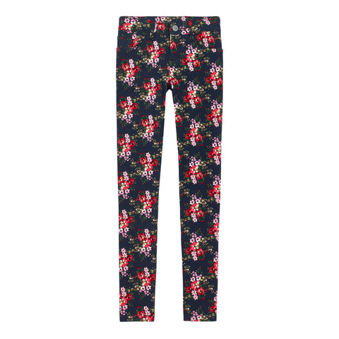 Bouquet Floral Super Soft Skinny - Kidpik Navy