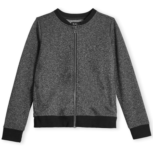 Metallic Fleece Bomber Jacket