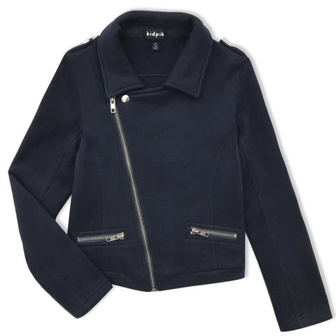 Knit Rocker Jacket - Kidpik Navy