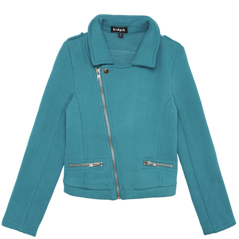 Knit Rocker Jacket - Lyons Blue