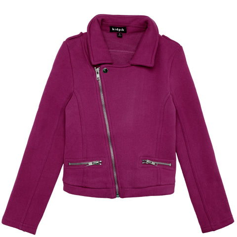 Knit Rocker Jacket - Purple Potion