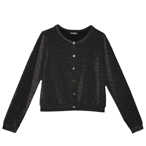 Super Shiny Cardigan - Black