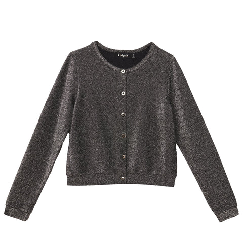 Super Shiny Cardigan - Silver