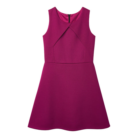 Waffle Knit Dress - Raspberry Radiance