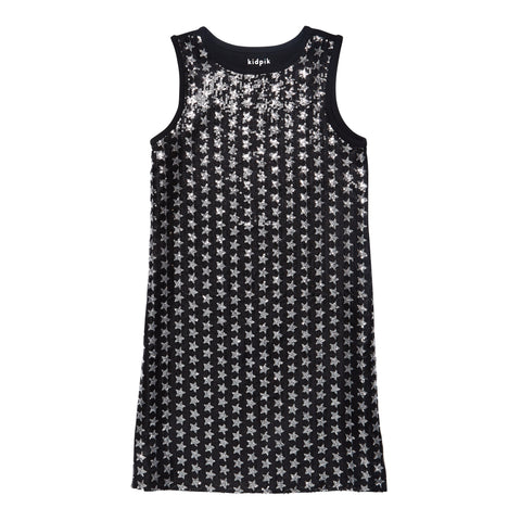 Star Sequin Dress - Black