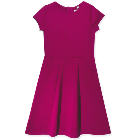 Classic Waffle Knit Dress - Raspberry Radiance