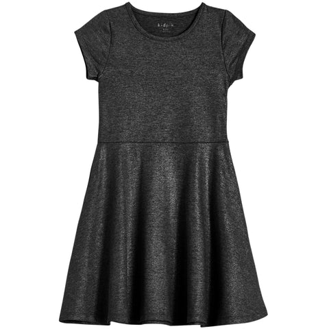 Simple Shiny Dress - Black