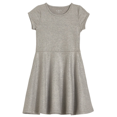 Simple Shiny Dress - Light Heather Grey
