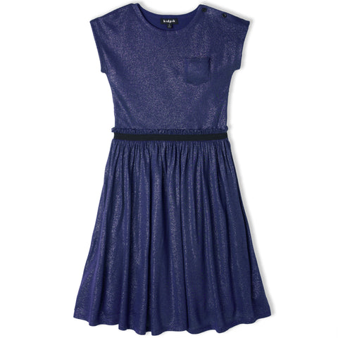 Shirred Party Dress - Deep Royal