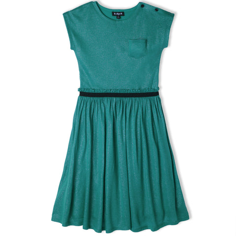 Shirred Party Dress - Lyons Blue