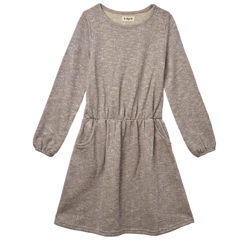 Sparkling Fleece Dress - Medium Heather Grey