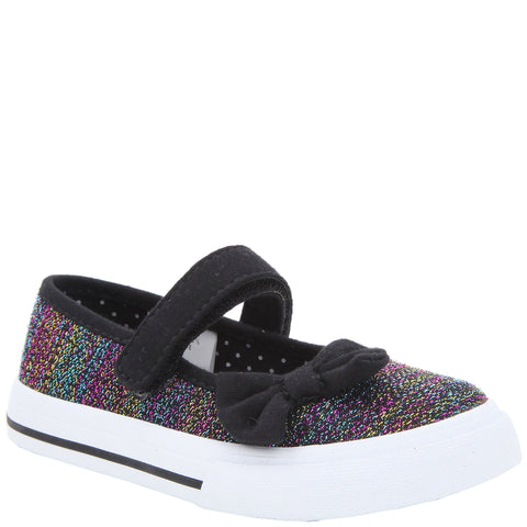 Rainbow Sparkle Mary Jane - Black