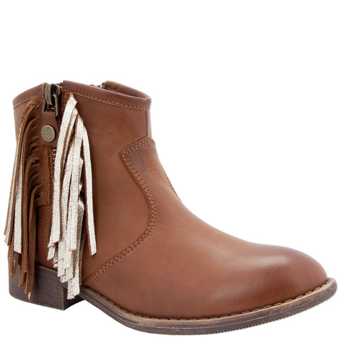 Western Fringe Boot - Tan
