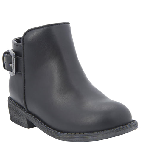 T Buckle Boot - Black