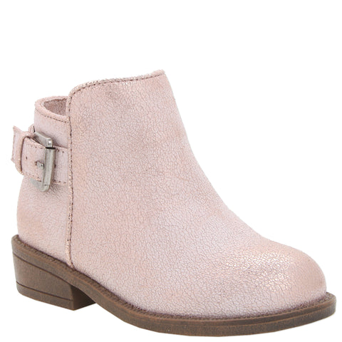T Buckle Boot - Rose Gold