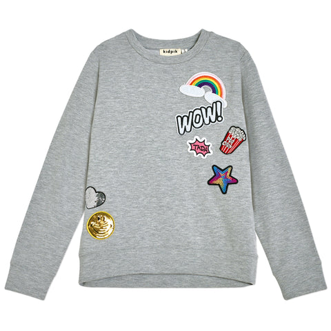 Emoji Sweatshirt - Medium Heather Grey
