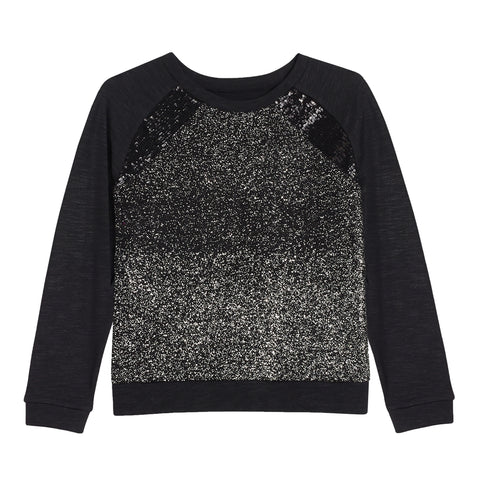 Sequin glitter top - Black