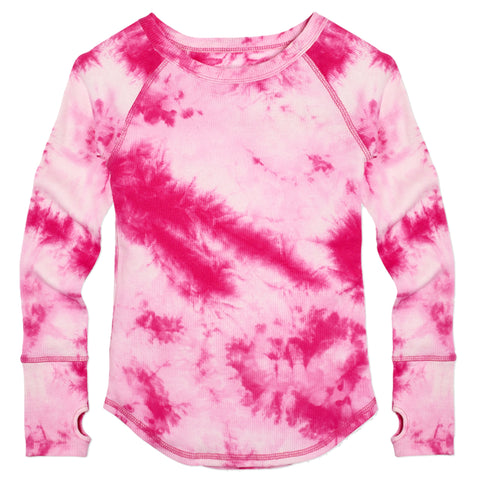 Tie Dye Rib Raglan - Beetroot Purple