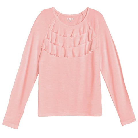 Ruffle Knit Top - English Rose