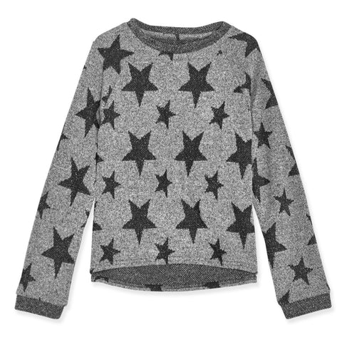 Star Raglan Top - Black