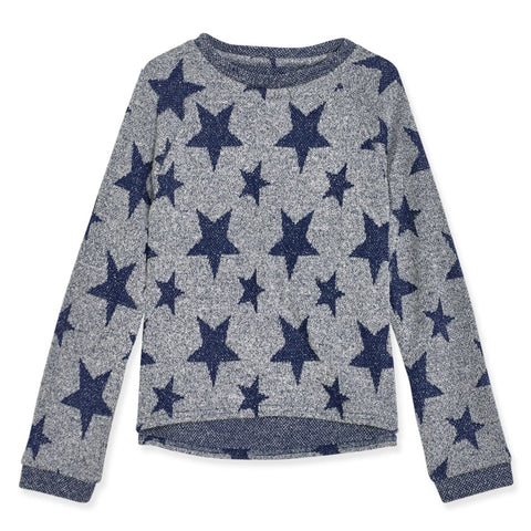 Star Raglan Top - Kidpik Navy
