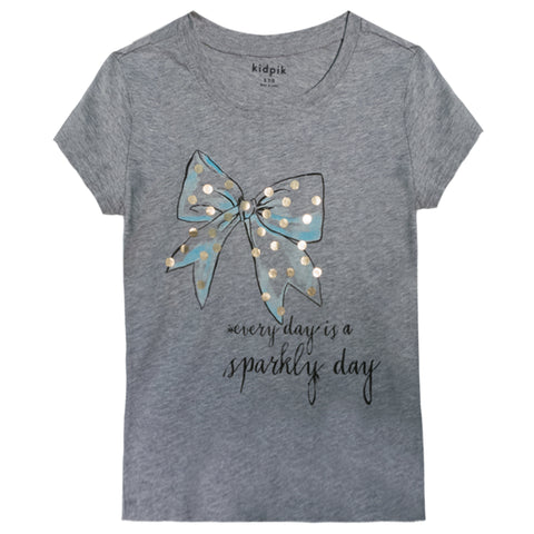 Bow-Tiful Tee - Light Heather Grey