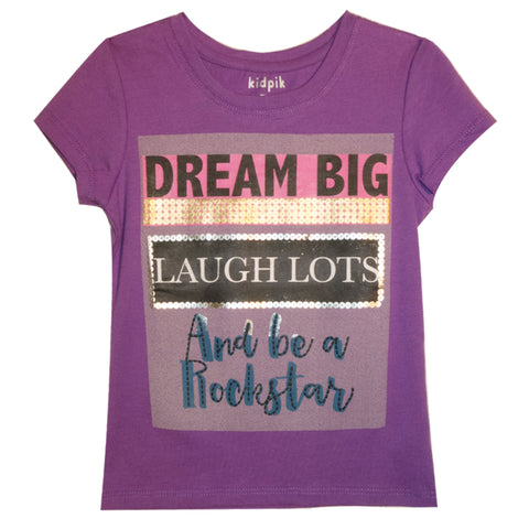 Dream Big  Tee - Dewberry