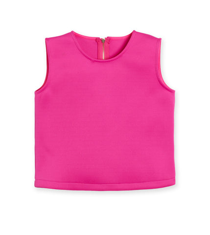 Cropped Scuba Top - Beetroot Purple