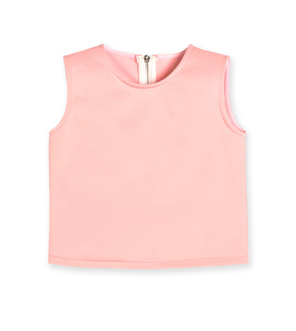 Cropped Scuba Top - English Rose