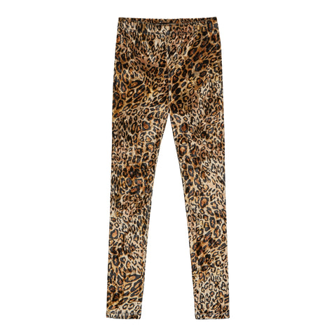 Leopard Velour Legging - Black