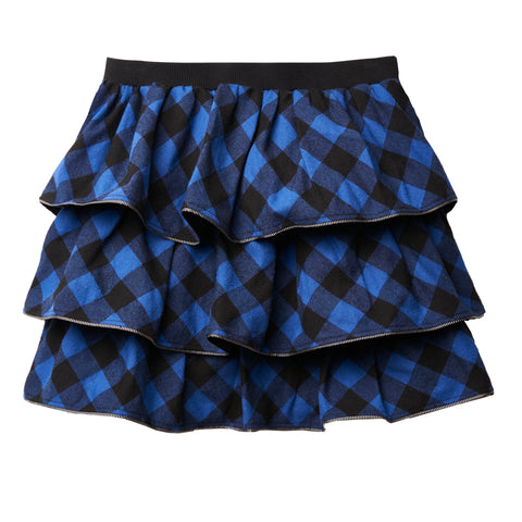Buffalo Check Tiered Skirt - Surf The Web