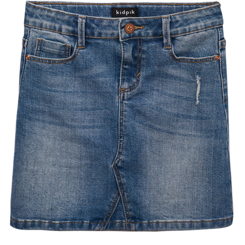 Denim 5Pkt Skirt - Dakota Wash