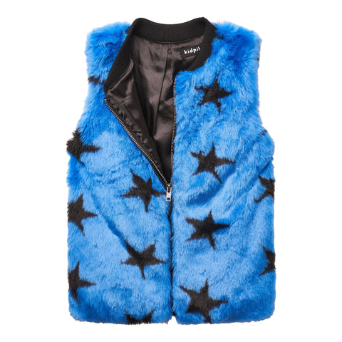 Star fur vest - Surf The Web