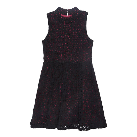 Mock TN Lace Dress - Raspberry Radiance
