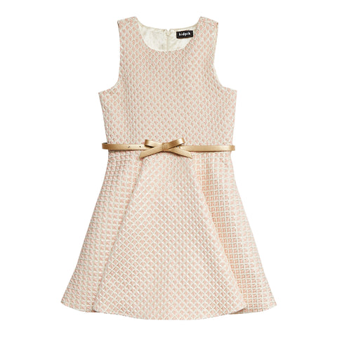 Diamond Shine Dress - Rose Tan