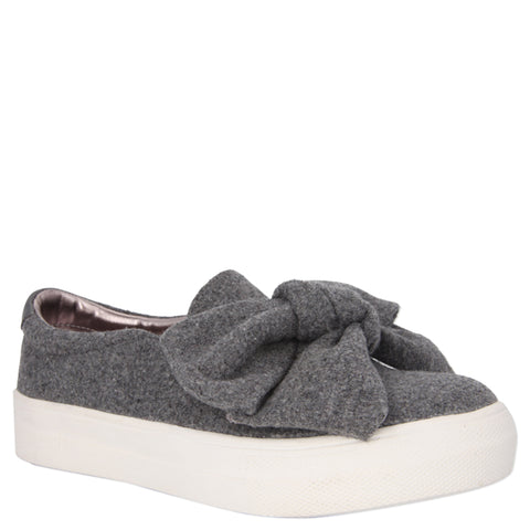 Bow-Tiful  Sneaker - Grey
