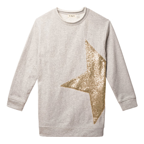 Sequin Star Tunic - Oatmeal