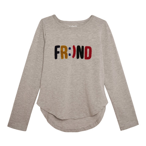 Friend Tee - Light Heather Grey